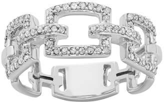 Kohl's 1/3 Carat T.W. Diamond 10k White Gold Chain-Link Ring