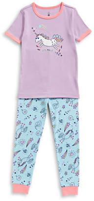 Petit Lem Two-Piece Unicorn Swag Pajama Set
