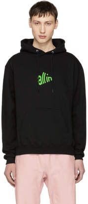 all in SSENSE Exclusive Black and Green Signal Hoodie