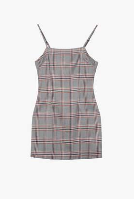 Azalea Plaid Square Neck Dress