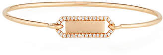 Prive Jemma Wynne Personalized Rectangle Bangle with Diamonds in 18K Gold