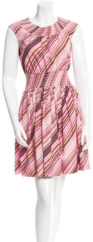prada Prada Striped Mini Dress