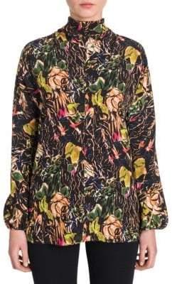 Prada Silk Floral Print Top