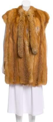 Fur Red Fox Vest