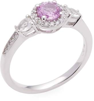 Rina Limor Fine Jewelry Women's 14K White Gold Pink and White Sapphire & Diamond Engagement Ring