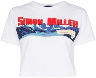 Simon Miller Rando cropped logo T-shirt