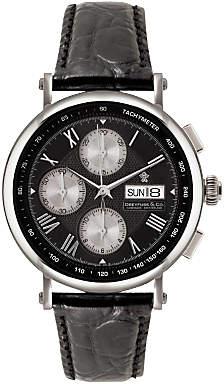 Dreyfuss & Co Men's Chronograph Leather Strap Watch