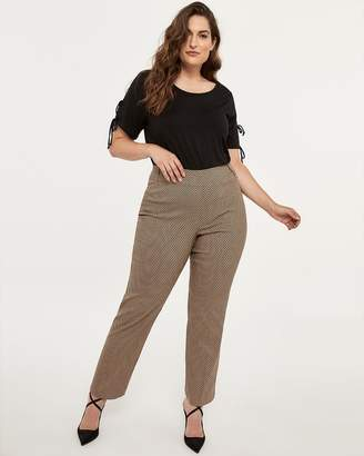 95d8f312710 Petite Savvy Printed Straight Leg Pant - In Every Story