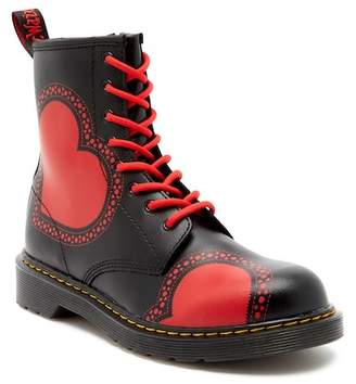 Dr. Martens Delaney Heart Air Wair Boot (Big Kid)