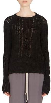 Rick Owens Cotton Cable Knit Sweater