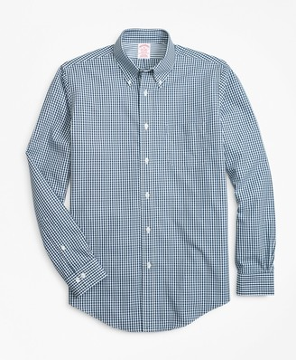 Brooks Brothers Non-Iron Madison Fit Gingham Sport Shirt