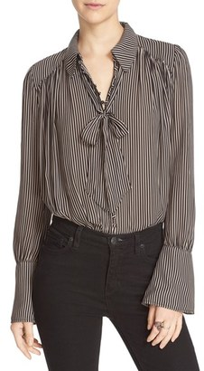 Women's Free People 'Modern Muse' Tie Neck Long Sleeve Blouse $98 thestylecure.com