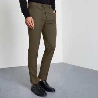 River Island Khaki green smart skinny fit pants