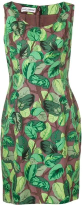 Dolce & Gabbana Pre-Owned 2000's leaf print short dress