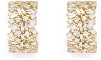 Suzanne Kalan Large Diamond Huggies Earring
