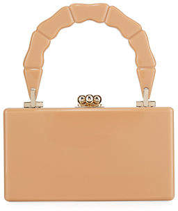 Edie Parker Jean Bamboo Top-Handle Clutch Bag