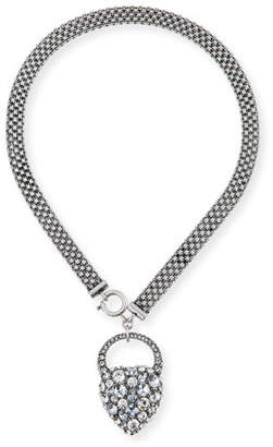 Lulu Frost Nina Crystal Heart Lock Necklace
