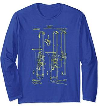 Trombone Player T-Shirt Vintage Patent Print 1913 Musician