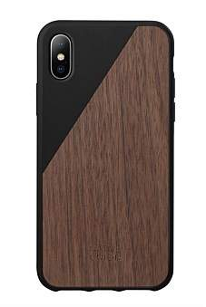 Native Union Clic Wooden For Iphone X - Black/Walnut Wood