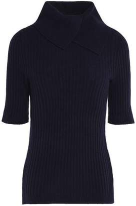 Ganni Ribbed Merino Wool-Blend Turtleneck Sweater