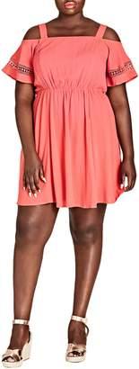 City Chic Sweet Frills Dress