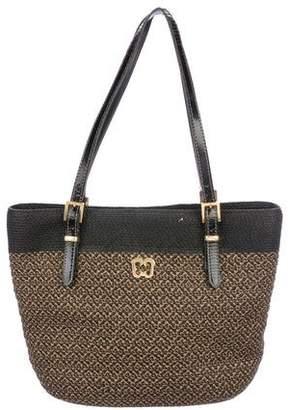 Eric Javits Leather-Trimmed Shoulder Bag
