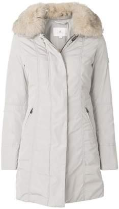 Peuterey buttoned fur collar coat