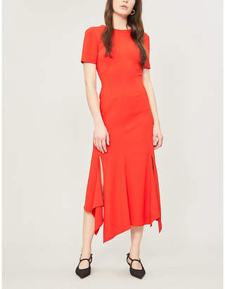 Victoria Beckham Asymmetric-hem crepe dress