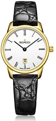 Dreyfuss & Co Dreyfuss Womens Analogue Classic Quartz Watch with Leather Strap DLS00136/01
