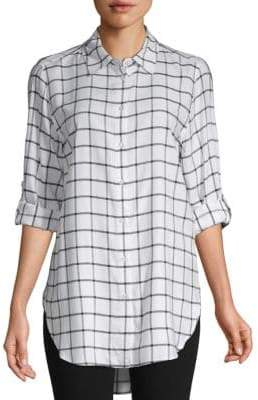 Calvin Klein Windowpane Button-Down Shirt