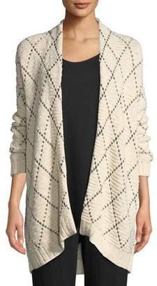 Eileen Fisher Diamond Kimono Cardigan
