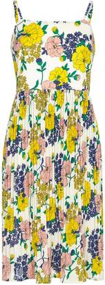 Yumi Floral Pleated Strap Dress