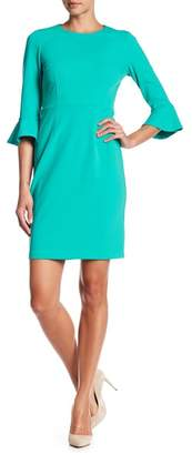 Donna Morgan Ruffle Cuff Sheath Dress