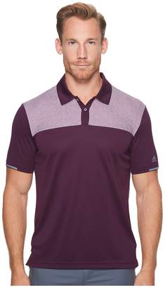adidas Climachill Heather Block Competition Polo Men's Short Sleeve Pullover