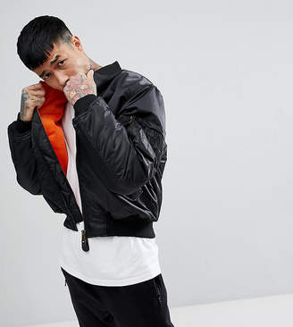Reclaimed Vintage Revived Ma1 Bomber Jacket In Black