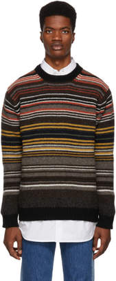 Junya Watanabe Brown Horizontal Stripes Sweater