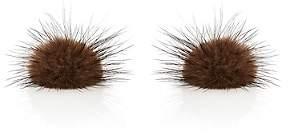 Samuel Gassmann Paris Men's Mink Fur Cufflinks-Brown