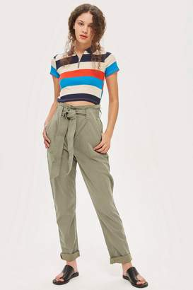 Topshop TALL Popper Utility Trousers