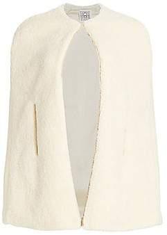 Totême Women's Mellac Faux Fur Cape