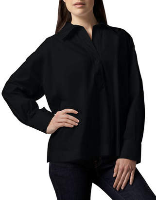 Go Silk Oversize Long-Sleeve Boxy Shirt