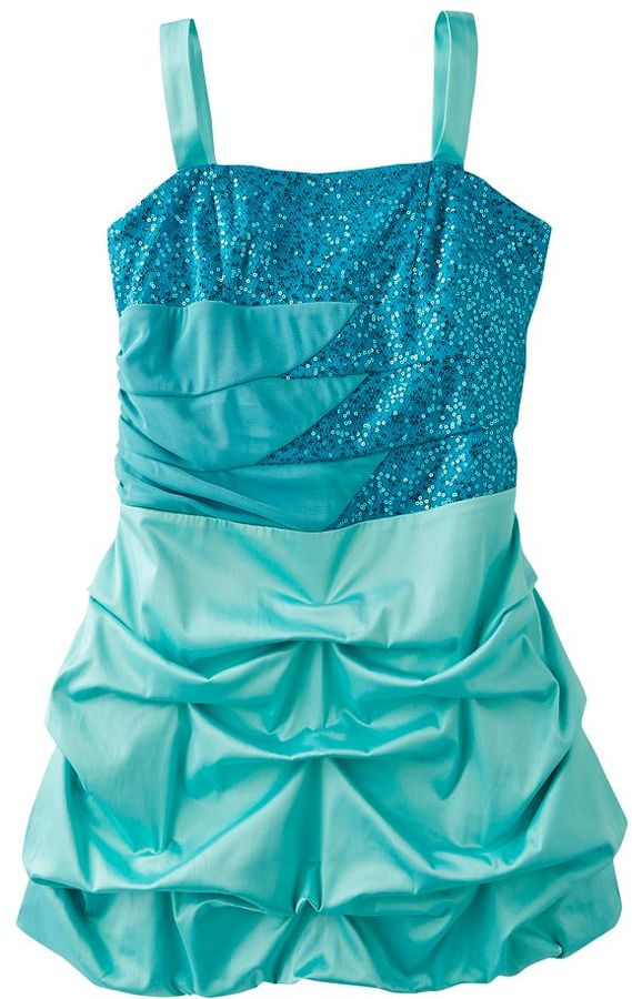 Ruby Rox sequin pick up-style dress - girls plus