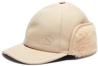 a6890249cad Burberry Explorer Leather Hat - Womens - Cream