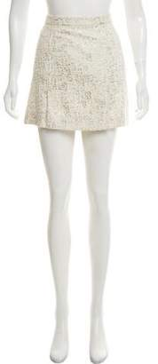 Rachel Zoe Metallic Mini Skirt