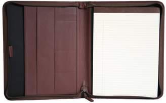 Royce Leather Zippered Convertible Padfolio