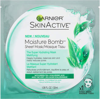 Garnier SkinActive Moisture Bomb The Super Hydrating Sheet Mask Mattifying $3.99 thestylecure.com