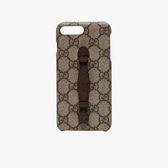beige neo GG print iPhone 8 plus case