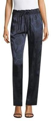 Peter Pilotto Women's Satin Jacquard Trousers - Orange - Size UK 12 (8)
