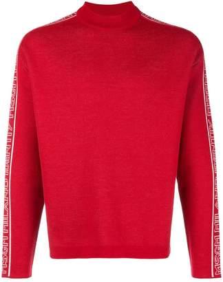 MSGM side-logo long sleeve sweater