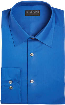 Alfani AlfaTech by Men's Solid Athletic Fit Dress Shirt