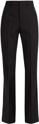 Saint Laurent High-rise wool-crepe tuxedo trousers